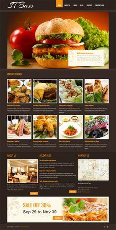 ST Bass, Drupal Restaurant Recipes Theme