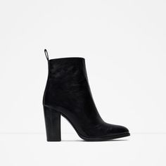 HIGH HEEL LEATHER ANKLE BOOTS WITH PULL TAB ZARA REF. 6118/001 4,790.00 MKD