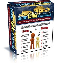 "Grow Taller Formula  ""Proven Scientific Specialized Height Growth Techniques & Methods Which Are Guaranteed To Make You Gain 2-4 Inches In Height In Under 60 Days!""   FREE DOWNLOAD Link! >> http://makemoneyonlinearsenal.com/materials/grow-taller-formula/"