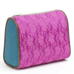 Consuela Marfa Collection Medium Cosmetic Bag Fuchsia Lace This Is The Size It S