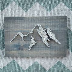Miniature Mountain String Art Mountain Decor Skiing