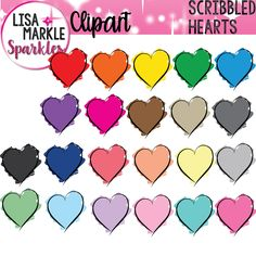 Enjoy brightening up your classroom decor and printables with these artsy, colorful scribbled hearts! Just in time for Valentine's Day! Great for labels, posters, matching activities, displays, and more! The set includes 22 different colored images. Each image is a 300 DPI PNG file. Personal and small commercial use accepted; my terms of use file is included. Enjoy!