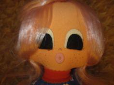 Vintage Mid Century Mod Big Eyed antique cloth doll by kookykitsch, $20.00