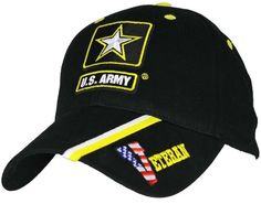 2474bbd1beb US ARMY VETERAN - U.S. Army Star   Stripe Officially Licensed Baseball Cap  Hat