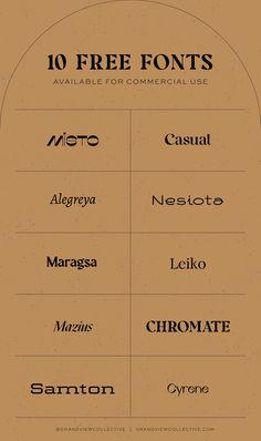 Logo Fonts Free, Best Fonts For Logos, Typography Fonts, Font Logo, Brand Fonts, Vintage Typography, Edgy Fonts, Funky Fonts, Modern Fonts