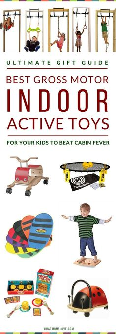 Rainy / Snowy Day Indoor Activities To Get Kids Moving! Best Toys For Active Indoor Play & Gross Motor Development Fun Boredom Busters For Kids Indoor Activities For Kids, Games For Toddlers, Preschool Games, Infant Activities, Children Activities, Motor Activities, Indoor Play For Kids, Indoor Playground For Kids, Educational Toys For Preschoolers