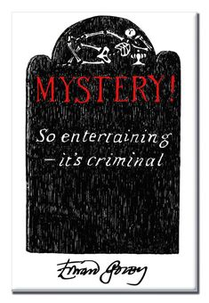 x magnet features a detail from Mystery!'s opening credits illustrated by Edward Gorey. Mystery Crafts, Edward Gorey, Opening Credits, Magnets, Entertaining, Yard, Display, Inspired, Floor Space