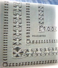 This Pin was discovered by Neş Types Of Embroidery, Learn Embroidery, Hand Embroidery Patterns, Embroidery Stitches, Embroidery Designs, Drawn Thread, Thread Work, Teneriffe, Hardanger Embroidery