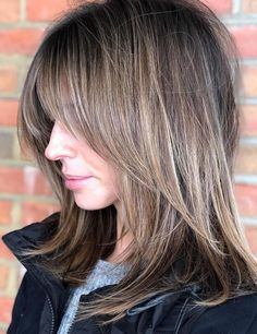 Medium Shaggy Hairstyles, Hairstyles With Bangs, Straight Hairstyles, Cool Hairstyles, Haircut Medium, Hairstyle Ideas, Medium Shaggy Bob, Medium Straight Haircut, Party Hairstyle