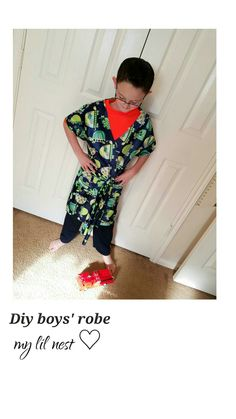 Diy easy boys robe @ my lil nest ♡ on facebook!