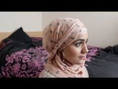 Twisty Eid Hijab Tutorial Pashmina Hijab Tutorial, Turban Tutorial, Hijab Style Tutorial, Hijab Bride, Eid Dresses, Pakistani Wedding Dresses, Muslim Brides, Muslim Couples, Nigerian Weddings