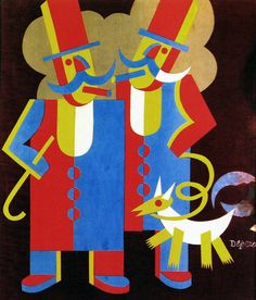 Fortunato Depero (1892-1960, Italy), 1917, Men with Moustaches.