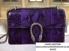 3fdc2826b4a Gucci Dionysus Python Pattern Calfskin Shoulder Small Bag 400249 2017