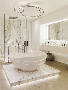 Home Design: awesome 25 Luxurious Marble Bathroom Design Ideas . Dream Bathrooms, Beautiful Bathrooms, Modern Bathroom, Bathroom Marble, Luxury Bathrooms, Bathroom Cabinets, White Bathroom, Bathroom Mirrors, Bathroom Lighting