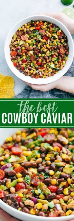 ultimate BEST EVER Cowboy Caviar with a few secret ingredients! A super easy and quick appetizer, salad, or side dish! via The ultimate BEST EVER Cowboy Caviar with a few secret ingredients! A super easy and quick appetizer, salad, or side dish! Quick Appetizers, Appetizer Dips, Appetizer Recipes, Dinner Recipes, Mexican Appetizers Easy, Mexican Food Recipes, New Recipes, Cooking Recipes, Favorite Recipes