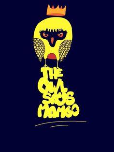 illustration  graphic art mambo owl the owl says mambo