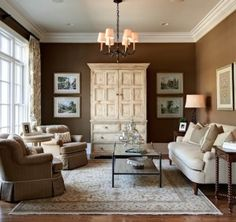 Brown Living Room Paint Is Sherman Williams Tea Chest