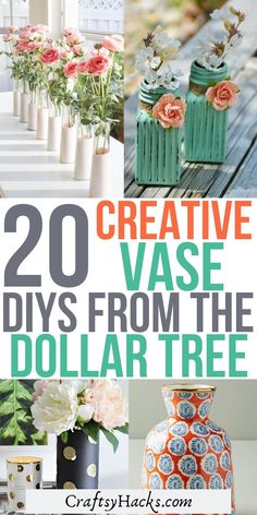 Trendy Home Decor, Diy Home Decor, Dollar Tree Vases, Diy Confetti, Hurricane Candle Holders, Gold Spray Paint, Clay Vase, Vintage Pottery, Diy On A Budget