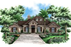 House Plan 27-418 One of my favs. Nice to have bathroom access from the back yard. Den could become game room and size decreased to fit the lot