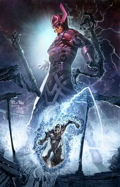Galactus & His Herald, The Silver Surfer by Philip Tan (Marvel comics) Heros Comics, Marvel Comics Art, Bd Comics, Marvel Comic Books, Comic Movies, Comic Book Heroes, Comic Books Art, Comic Art, Comic Pics