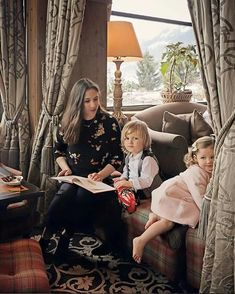Tatiana Santo Domingo - married to Andrea Casiraghi - with children Sasha and India for Baby Dior Anniversary June 2017 photographed by Elisabeth Toll at Gstaad Palace, Switzerland in the late winter/early spring Princess Caroline Of Monaco, Princess Alexandra, Grace Kelly, Ernst August, Andrea Casiraghi, Baby Dior, Monaco Royal Family, Royal Brides, Family Photos