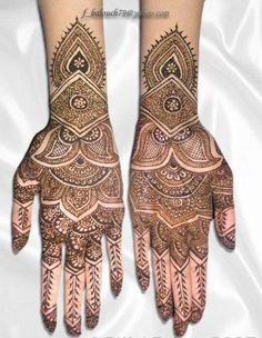 Henna Mehndi is traditionally used by South Asians.The Arabic and modern designs are so beautiful.Find pakistani, indian henna mehndi patterns and tatoos Rajasthani Mehndi Designs, Eid Mehndi Designs, Mehndi Design Photos, Wedding Mehndi Designs, Mehndi Designs For Hands, Indian Henna, Henna Mehndi, Mehendi, Henna Art