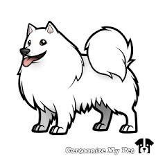 Image result for american eskimo dog cartoon drawing