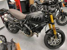 """2021 Ducati SCRAMBLER 1100SPORT PRO for $15,495.00 An artwork with a sporty attitude. In its """"Matt Black"""" colour, equipped with Öhlins suspension, low handlebars and café racer-style rear-view mirrors, the Ducati Scrambler 1100 Sport PRO is the most muscular version ever. #Ducati #StreetBikes #SCRAMBLER1100 #SPORTPRO Ducati Motorcycles, Ducati Scrambler, Cafe Racer Style, Street Bikes, Rear View Mirror, Sporty, Mirrors, Artwork, Attitude"""