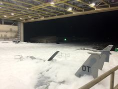 The fire suppression accidentally went off and submerged planes in foam