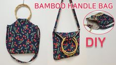 Wooden Handle Bag, Wooden Handles, Diy Sac, Diy Bags Purses, Pouch, Wallet, Summer Bags, Tote Bag, Wooden Diy