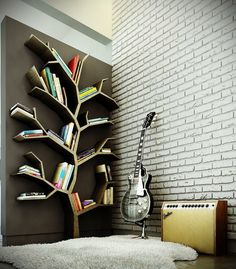 Creative tree-shelf design | WhiteWaterMelon