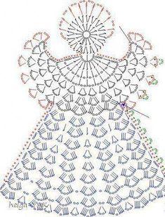 Over 20 Free Crochet Angel Patterns Crochet Snowflake Pattern, Crochet Snowflakes, Crochet Motif, Crochet Flowers, Free Crochet, Angel Crochet Pattern Free, Crochet Christmas Decorations, Crochet Christmas Ornaments, Christmas Crochet Patterns