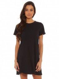 Atlas T-Shirt Dress in Black