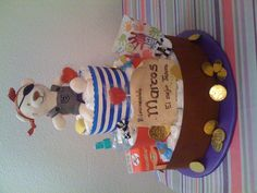Pirate Diaper Cake/ Tarta de pañales pirata