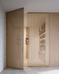 Timber Cladding & Slatted Wood Furniture Winter 2019 Seasonal Edit The Savvy Heart Dining Room Design Cladding edit furniture Heart Savvy Seasonal Slatted timber winter wood Wood Slat Wall, Wood Slats, Interior Architecture, Interior And Exterior, Exterior Siding, Japanese Architecture, Room Divider Doors, Timber Cladding, Interior Cladding