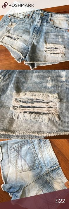 AEROPOSTALE Destroy Denim Jean High Rise Shorty DENIM HEADQUARTERS!!  Shop Now! Aeropostale Shorts Jean Shorts