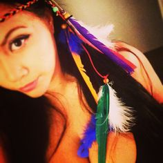 Tribal headband with feathers  by enchantedheadwear on Etsy, $7.00