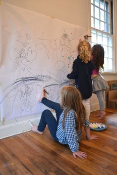 The children in art class experience what it's like to draw with their feet and mouths (and elbows!). This is not only a fun, action art experience, but it gives them a new appreciation and gratefulness for their hands.
