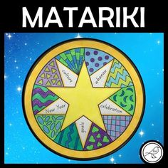 A creative activity for your students when celebrating Matariki (Maori New Year).Design 10 different patterns (plan them in the boxes at the bottom of the page before drawing them on the template).Write 5 words about Matariki in the points of the star.Colour or write in the top star (see ideas below...