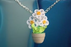 Pot of Paper Daisies by CloudTreePaperCraft on Etsy, $15.00