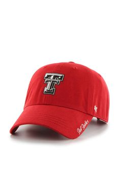 promo code 28a1a 89514 ... real 47 texas tech red raiders red miata clean up adjustable hat raiders  gifts raiders 55e54