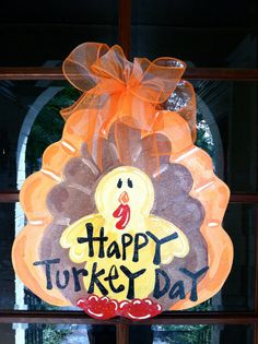 Happy Turkey Day Door Hanger  Bronwyn Hanahan by BronwynHanahanArt, $45.00