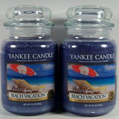 Yankee Candle Beach Vacation Large Jar Summer Fragrance Retired Qty 2 Candle Melts, Yankee Candles, Ways To Relax, Find Picture, Plush Animals, Festivals, Tea Lights, Coastal, Porn