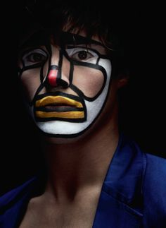 The new Spring 2012 'Body Issue' of Acne Paper features 'Circus Maximus', a story photographed by Julia Hetta and styled by Mattias Karlsson with makeup by Peter Philips. Clown Makeup, Costume Makeup, Halloween Face Makeup, Halloween Ii, Halloween Themes, Le Clown, Clown Faces, Julia Hetta, Dimples