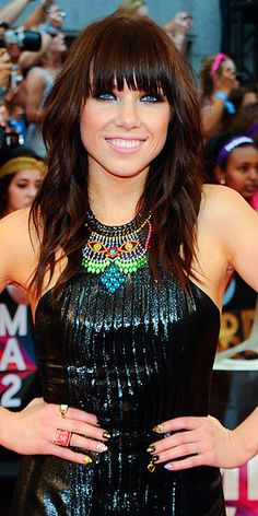 CARLY RAE JEPSEN I love hear hair and makeup! And her dress! And her music!