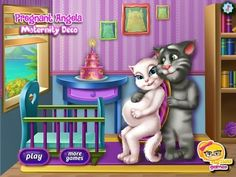 Pregnant Angela Maternity Decoration - Talking Tom Game Tutorial 2016