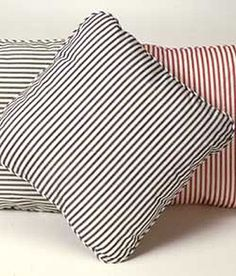 Homespun Ticking Stripes Corded Pillow