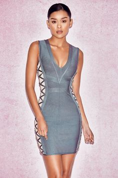 2017 summer New Arrive Women Bandage Dress Armey green Spaghetti Strap V- neck Sexy Evening Party Bodycon Dress Casual Vestidos f93cccfc3