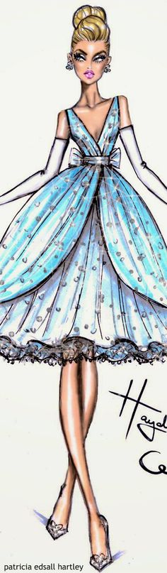 Dress designed for Disney & Tumblr in honour of Cinderella Movie by Hayden Williams