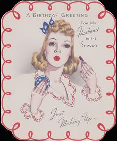 vintage recycling: Remembering Brave Hearts - Greeting those who Served -1940s WWII